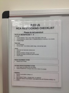 HCA checklist
