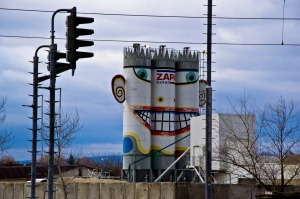 Who needs broken silos when you can decorate them instead?